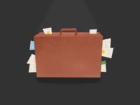 Suitcase: Full of development & design pieces.