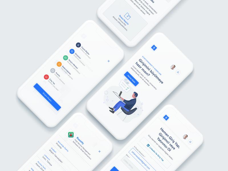 StartupMarket Responsive Design interface entrepreneur investor investment startup startupmarket design responsive