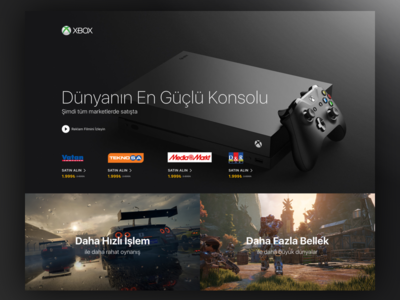 Xbox Landing Page
