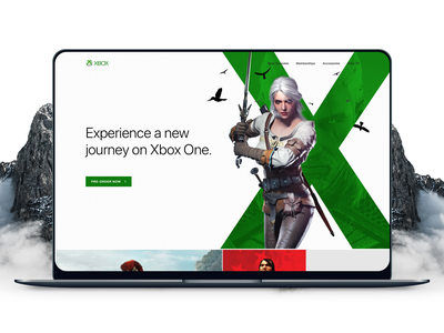 Xbox Marketing Campaign Web Site layout web site design typography atolye15 console xbox landing clean minimal ux ui