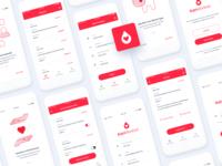 Kan Merkezi App Design