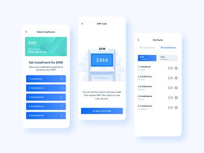 Mobile App Project mobile app mobile money loan react native swift sleek mobile banking banking atm minimal ui design layout clean illustration ux design ui