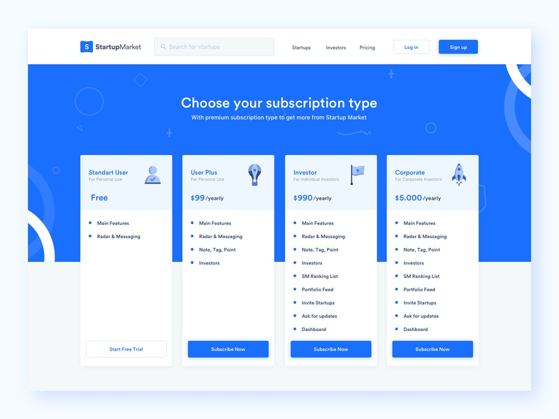 Pricing Page and Illustrations icon design illustration design state no data card component pricing ui design web design website clean icon illustration minimal ux design ui