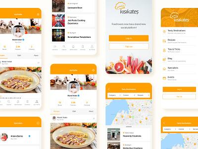 Digital Gastronomy Platform Project app recipe chef food gastronomy gourmet development ui design website web clean layout minimal ux design ui