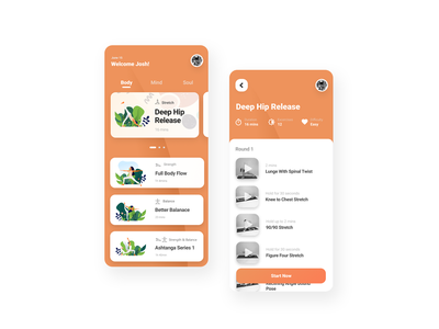 Mindful Yoga App v1.2 user experience design user experience user interface design user interface ui mobile app design mobile app mobile ui ui designs ui designer yoga app ux design ui design application app showcase product ux user interface design ui