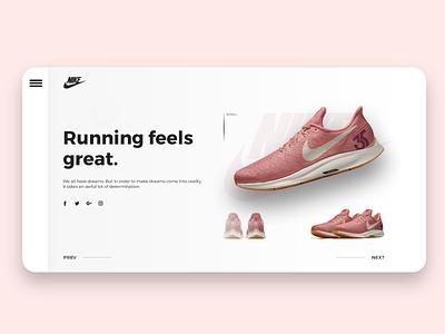 Product showcase UI ui web design webdesign web shoes showcase e commerce minimal user interface product