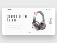 Product showcase UI for Headphones