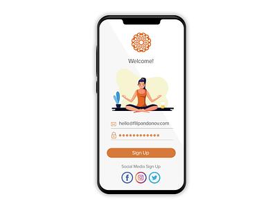 DailyUI #001 Sign Up Screen ux minimal app product graphic illustration showcase user interface ui design dailyui
