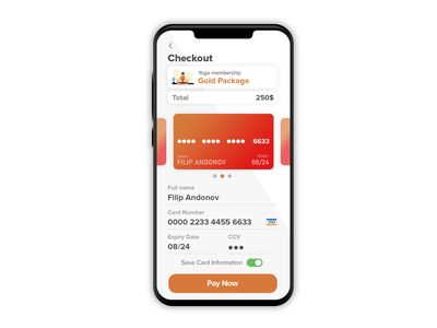 DailyUI #002 Checkout minimal ux application app product showcase graphic user interface ui design