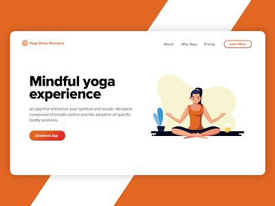 DailyUI   #003 Landing page design ux ui product webdesign showcase minimal user interface graphic design web