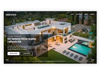 dailyUI #005 Landing page Real estate minimal graphic design product ux webdesign ui user interface web showcase