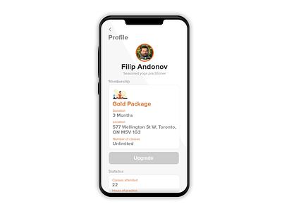 DailyUI #006 Profile page mobile design mobile ui uidesign ui  ux application app ux showcase product design user interface ui