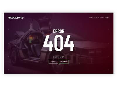 DailyUI #008 404 error page 404 page agency website 404 error page website ux web webdesign user interface showcase design ui graphic