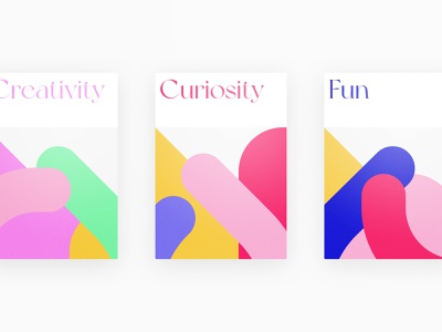 YF Tenets geometric pattern fun curious creative colors vibrant minimalistic abstract design poster visual rules basic theme mindset munich frish yung
