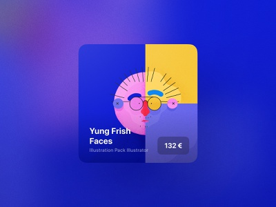 YF Shop Teaser shadow tile card munich design branding ui8 marketplace buy illustration ux ui marketing ressources products assets digital shop frish yung