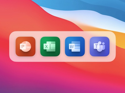 Icon Set Microsoft Office Suite iconset icon teams microsoft powerpoint microsoft office microsoft word icons macos ios suite office microsoft app ux munich ui design yung frish