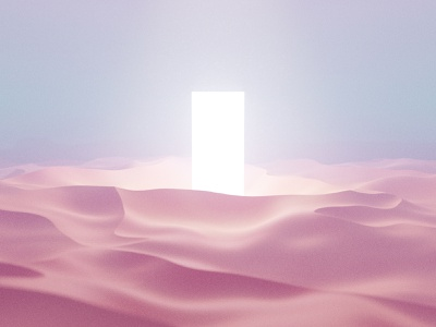 Holy Dunes volumetrics fog shine wallpaper noise blur art holy light door dunes sand 3dart 3d blender3d blender render design yung frish