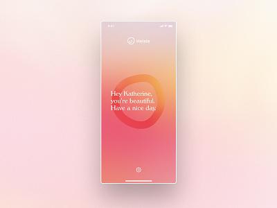 Helsie iPhone Teaser mental health branding visual psychology healthcare ios teaser helsie health mental blur colors typography app ux munich ui design yung frish