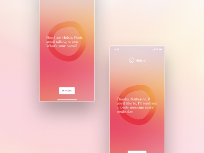 Helsie iOS Onboarding mindfulness mindful mind health name helsie splash launch intro onboarding colors ios typography app ux munich ui design yung frish