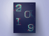 2019 New Year Typo Poster