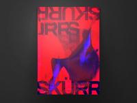 Typography Poster Skürr Skürr
