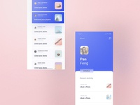 Cream Theme Profile & Notification Inbox