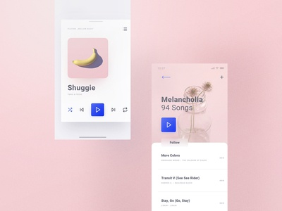 Cream iOS UI Kit Music Section