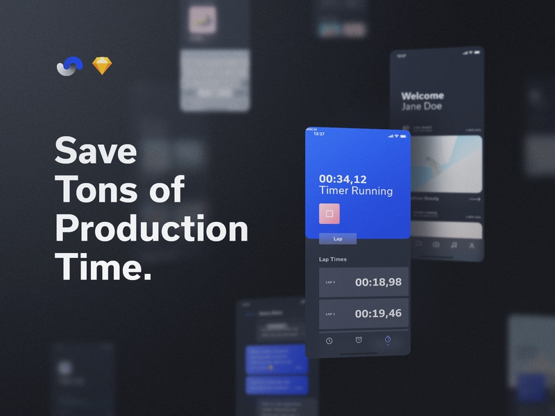 Shift Design System Production Time documentation release live buy symbols atomic components app ux sketch products kits ui shift system design ui8net ui8 frish yung