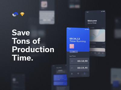 Shift Design System Production Time documentation release live buy symbols atomic components app ux sketch products kits ui shift system design ui8net ui8 frish yung