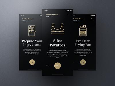 Sheek Food iOS UI Kit Cooking Mode frish yung cook cooking ui8 professional elegant dark clean recipes order restaurants system design shift kit ui ios food sheek