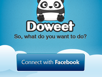 Doweet Welcome Screen