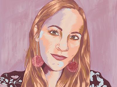 Painted portrait exploration painterly illustration woman face portrait digital painted