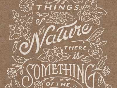 Happy earth day summer spring flowers floral illustration hand lettering natural lettering quote nature earth day
