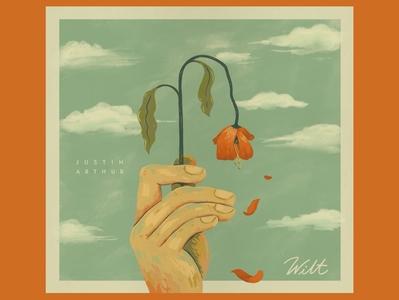 Wilt album nature flowers illustraion music album album cover album floral hand lettering lettering