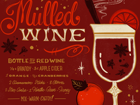 Mulled wine lettered libation series
