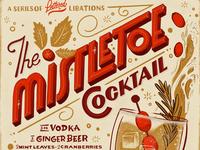 Mistletoe cocktail lettered libation series