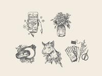 Flower farm icons