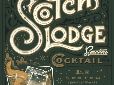 Scotch lodge signature cocktail