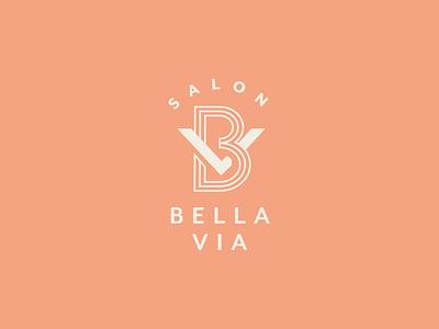 Bella Via Salon unchosen concept modern rebrand icon salon monogram identity submark logo branding