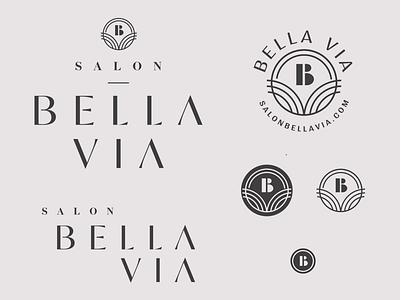 Bella Via Salon chosen concept modern type typography salon responsive brand brand board identity system brand branding logo