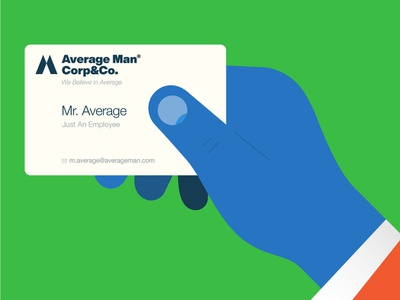 Average Man Corp&Co. vector illustration