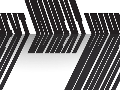 WHEXT projection concept blackandwhite condensed typography distorted