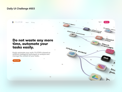 Landing Page landing page landingpage dailyui 003 blender3d xd dailyui daily 100 challenge
