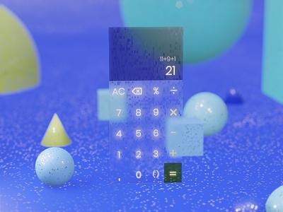 Calculator dailyui 004 calculator blender3d dailyui daily 100 challenge
