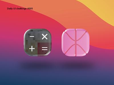 App Icon blender3d dailyui 005 calculator dailyui daily 100 challenge app icon