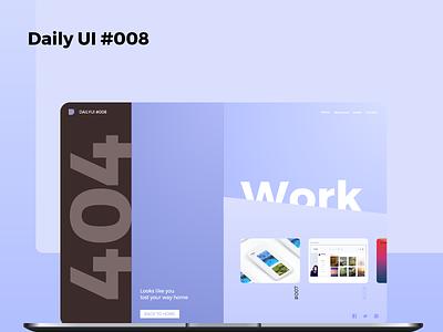 404 Page 404 page 404 008 dailyui 008 xd dailyui daily 100 challenge