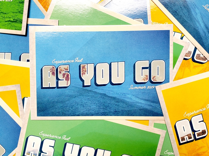 As You Go Postcards you going bible vacation summer church series postcard
