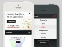 Efabrika website mobil view