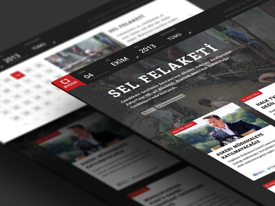 History of Month history byegm news turkey scroll flat box site ui ux website responsive