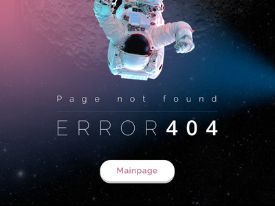 404 Page not found 404 page space error button gravity